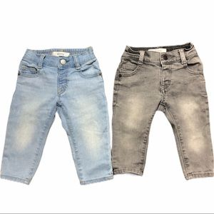 Lot of 2: Gymboree Baby Skinny Jeans 12-18 Months